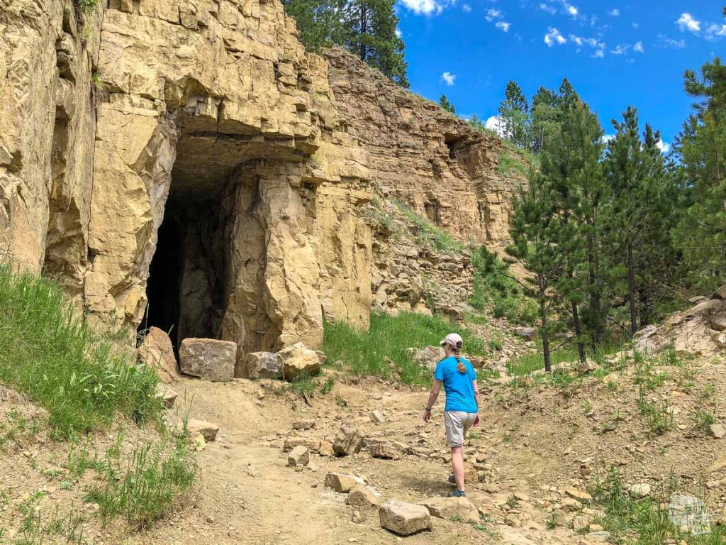 An ATV is the only way to get to this old silica mine in the Black Hills.