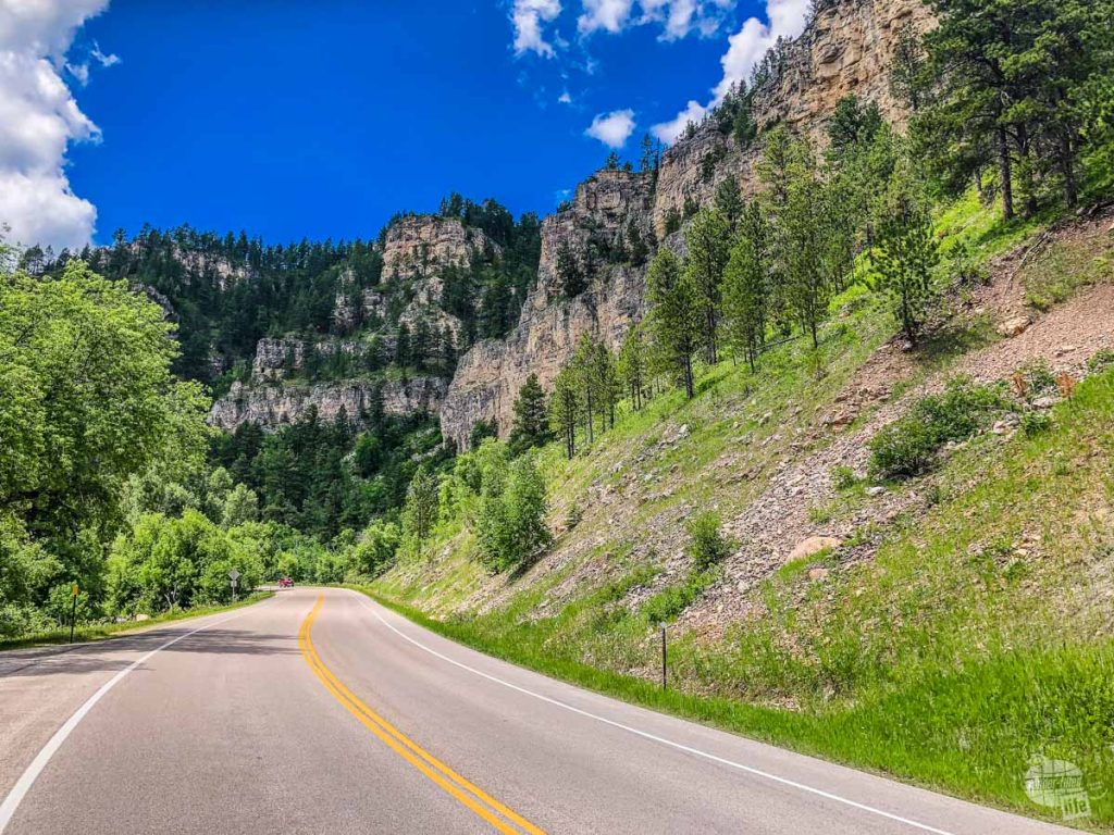 Spearfish Canyon, one of the scenic drives in the Black Hills.