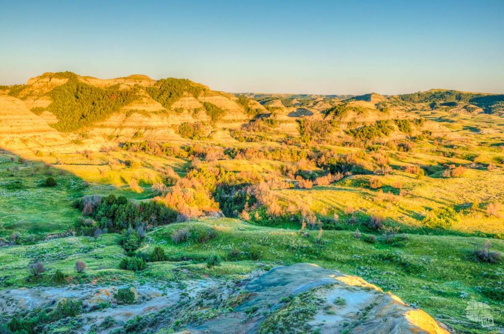 Sunset light in Theodore Roosevelt National Park