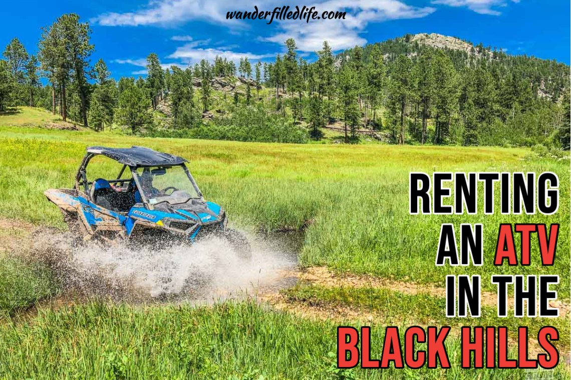 Renting ATV and in the Black Hills