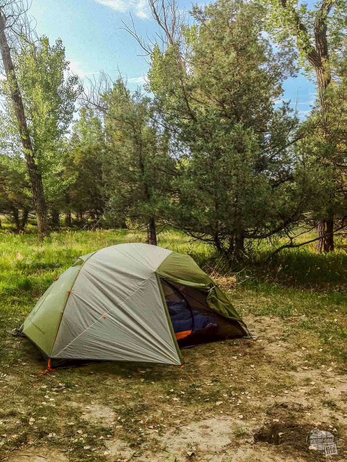 Our site in Cottonwood Campground when visiting Theodore Roosevelt National Park.