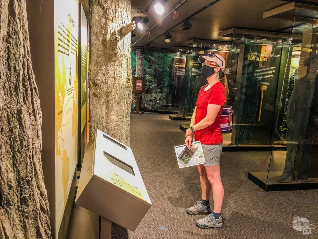Bonnie checking out the exhibits for Cumberland Gap National Historical Park.