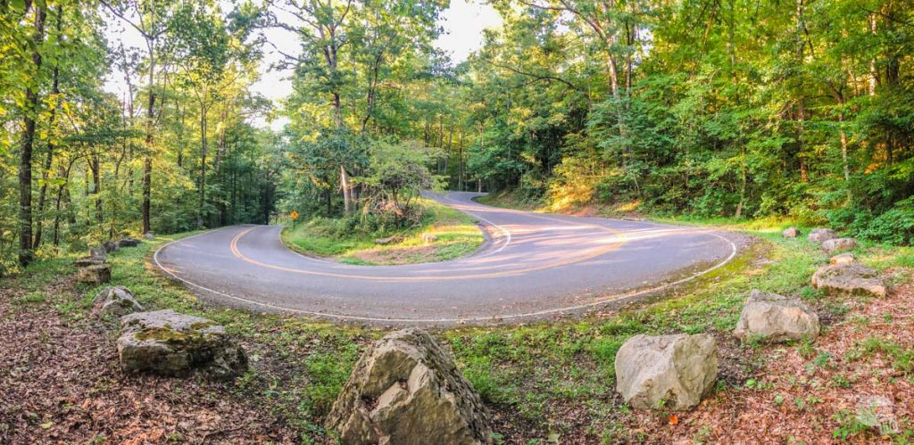 Hairpin Turn on Pinnacle Road