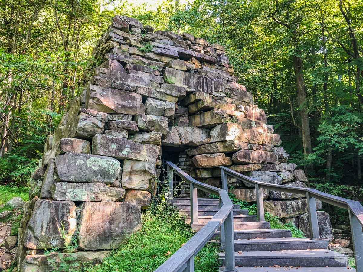 The historic iron furnace