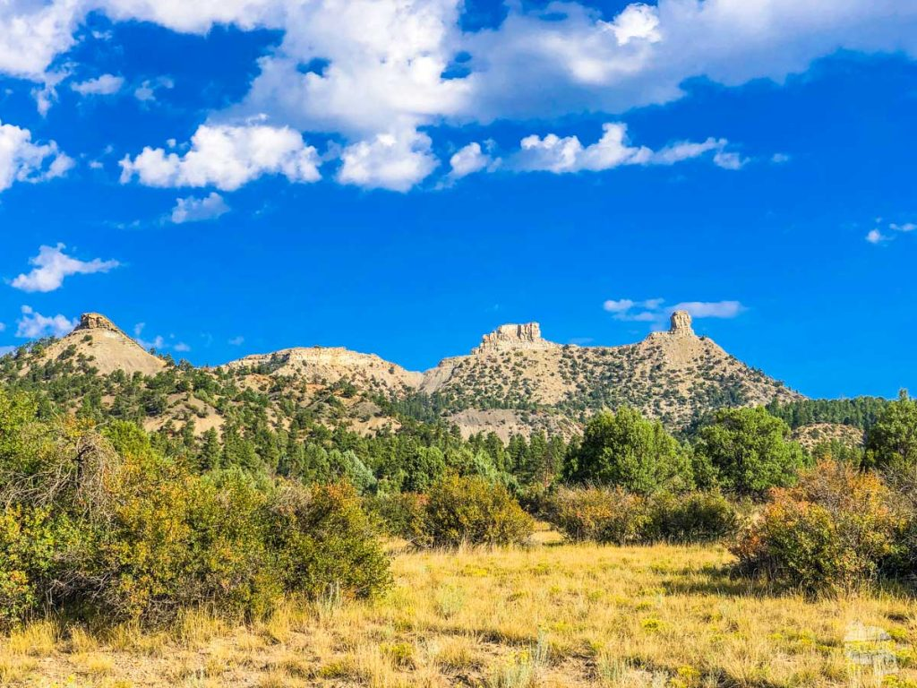 Chimney Rock is one stop on our day trip from Pagosa Springs.