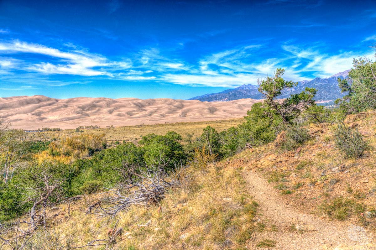 The Great Sand Dunes from the Montville Nature Trail