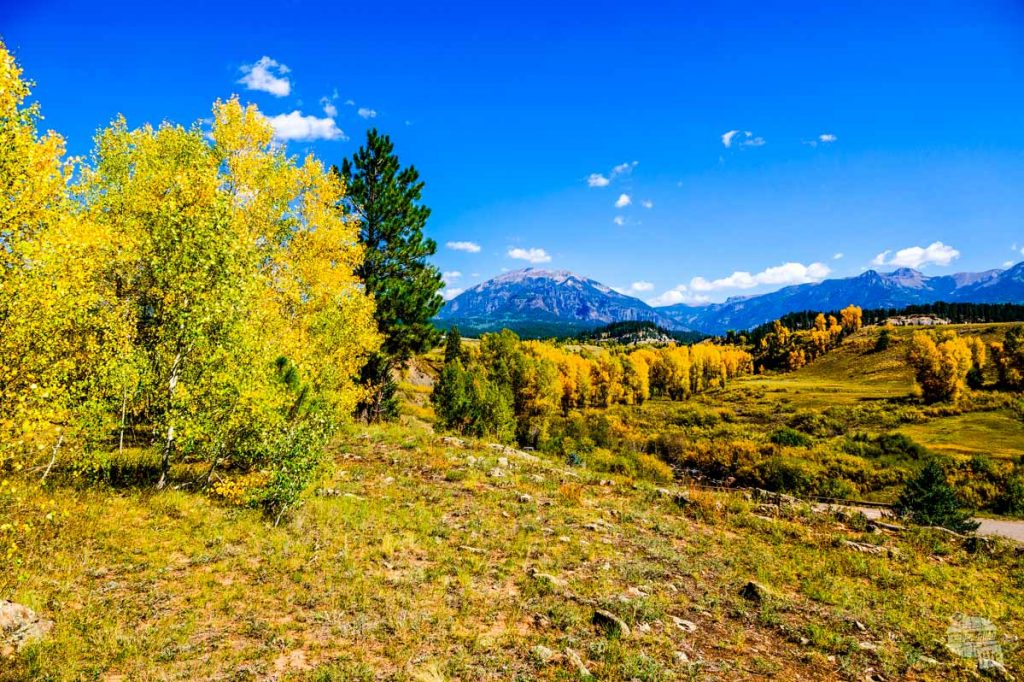 The sights along Piedra Road are spectacular in the Fall.