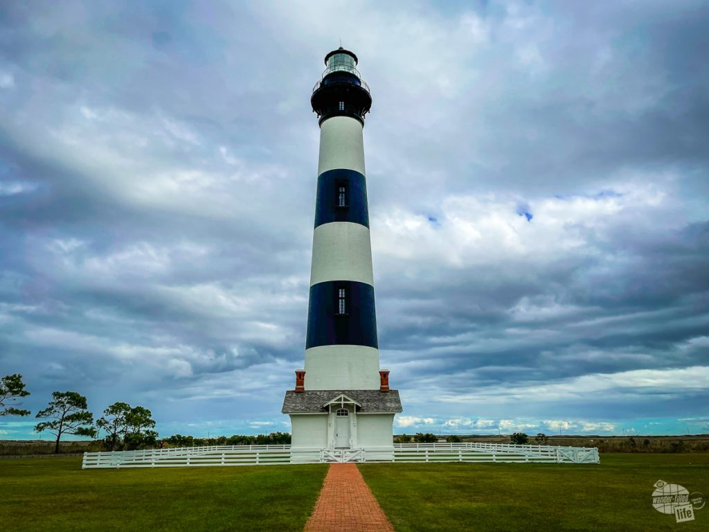 The Bodie Island Lighthouse is one of three lighthouses at Cape Hatteras National Seashore.