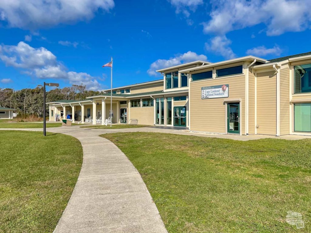 The Cape Lookout National Seashore Visitor Center at Harkers Island.