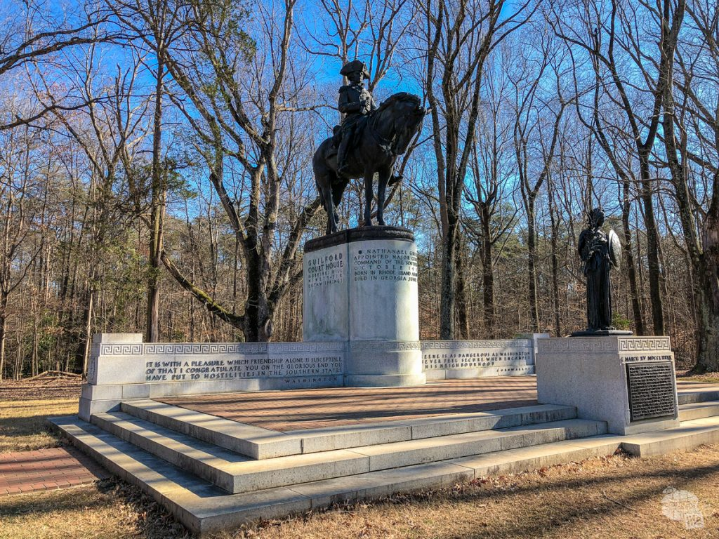 The Greene Monument at Guilford Courthouse National Military Park