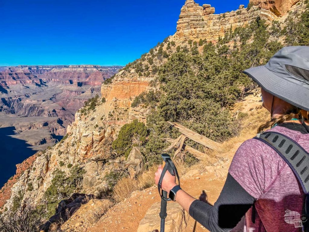 A hike into the canyon is possible at the Grand Canyon in winter.