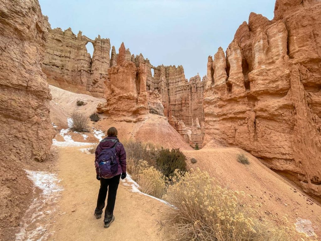 On the trail in Bryce Canyon National Park.
