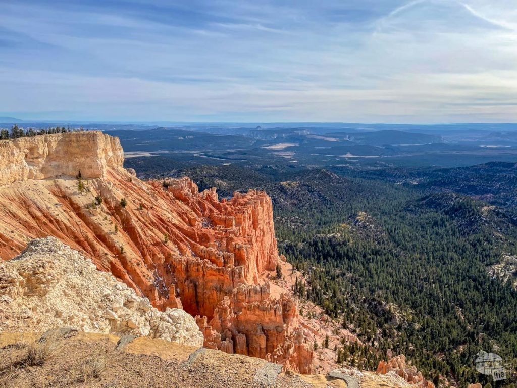 Red rock and forest of Bryce Canyon National Park.