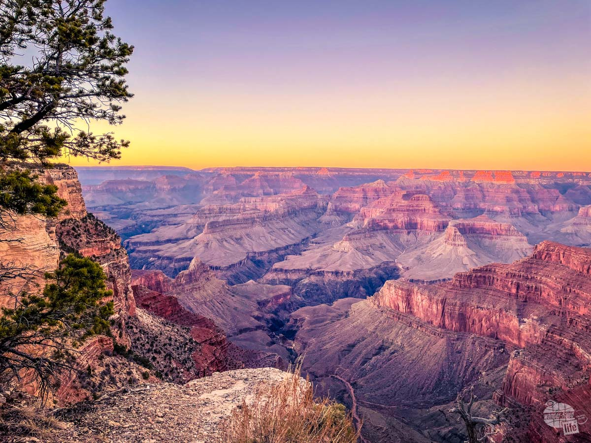You can find a great spot for sunset just about anywhere in the Grand Canyon.