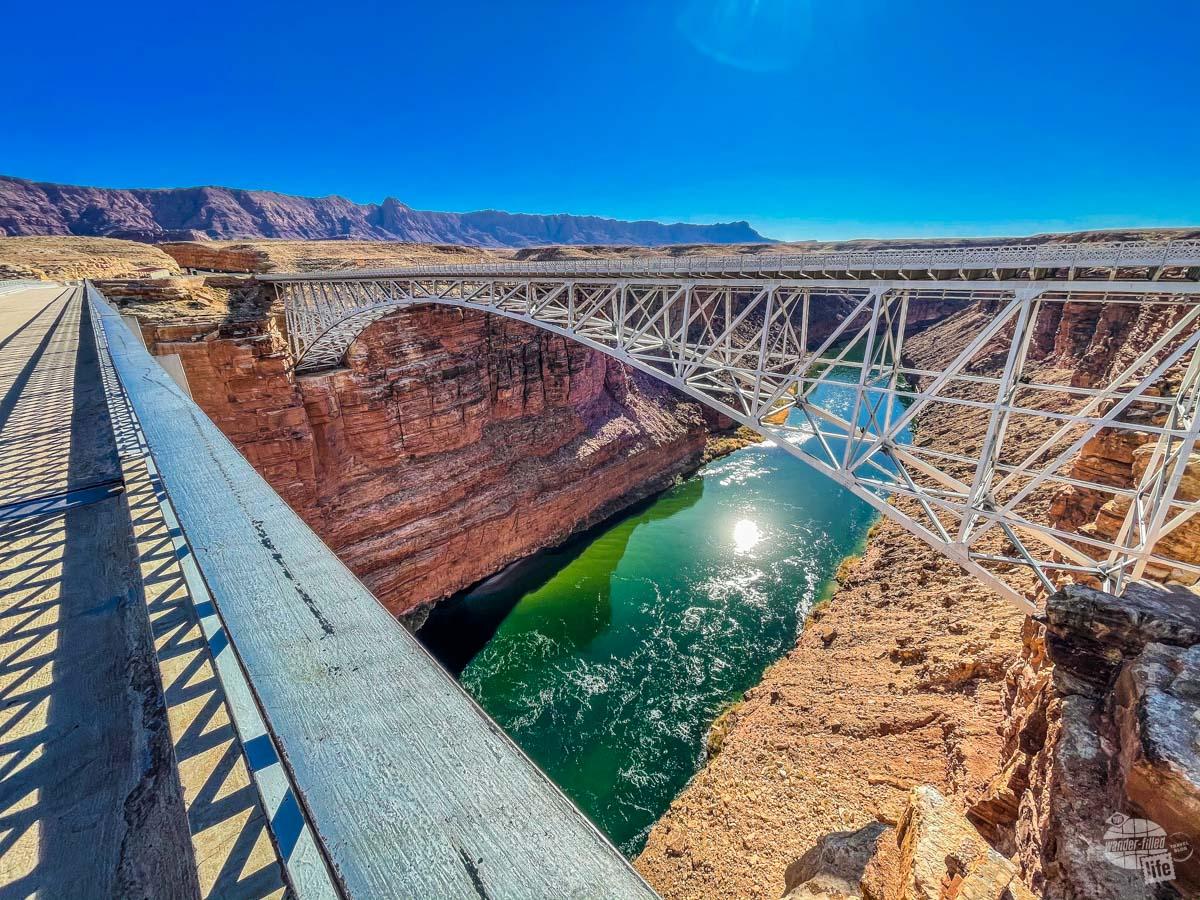 The new Navajo Bridge from the old Navajo Bridge