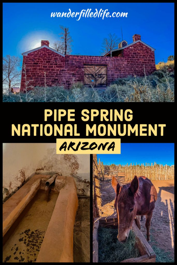Pipe Spring National Monument preserves a frontier Mormon ranch with a colorful history, a great stop on the way from Grand Canyon to Zion.