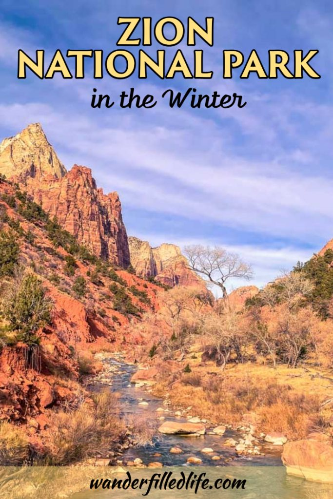 Visiting Zion National Park in the winter offers the opportunity to avoid the crowds and the shuttle bus but be prepared for winter weather.