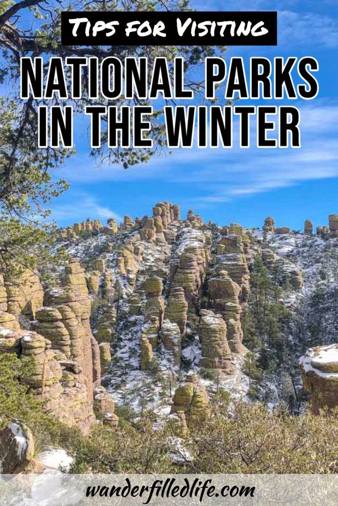 Visiting national parks in the winter requires a bit of research and flexibility but offers a chance for snowy landscapes and fewer crowds.