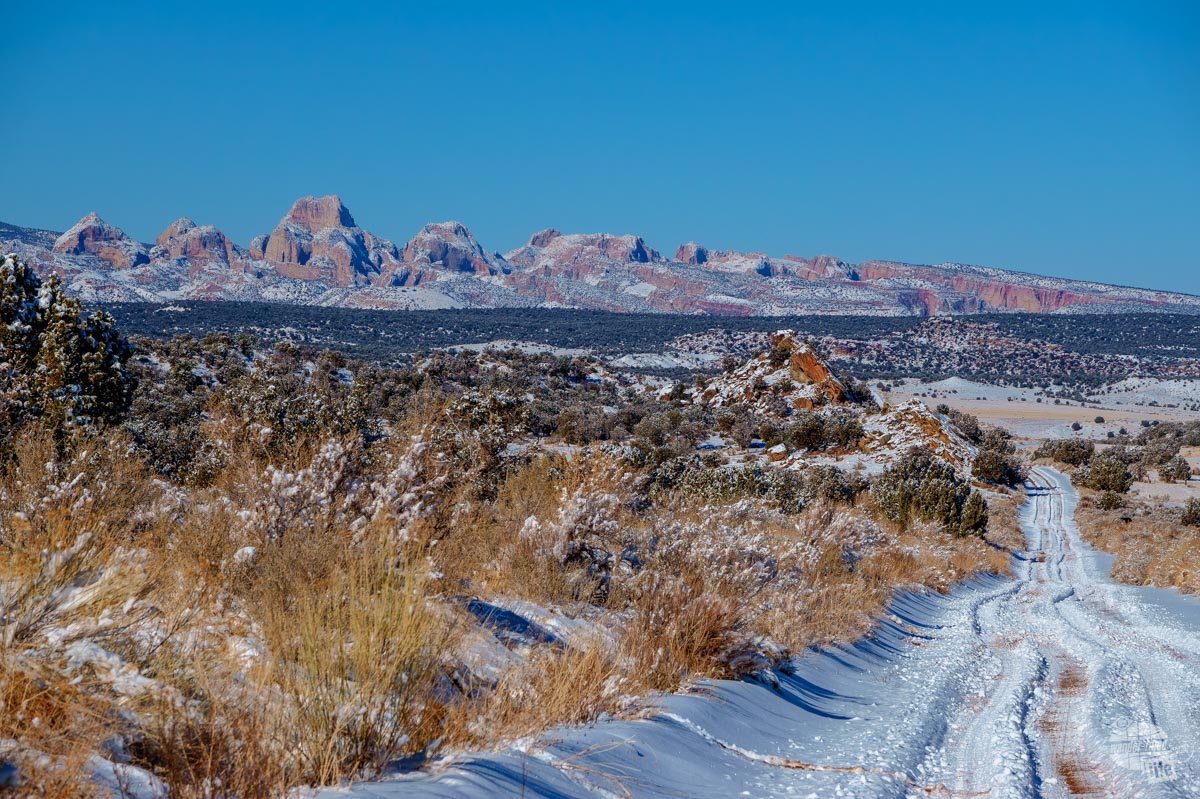 Driving the Notom Road in Capitol Reef National Park in the winter was amazing!