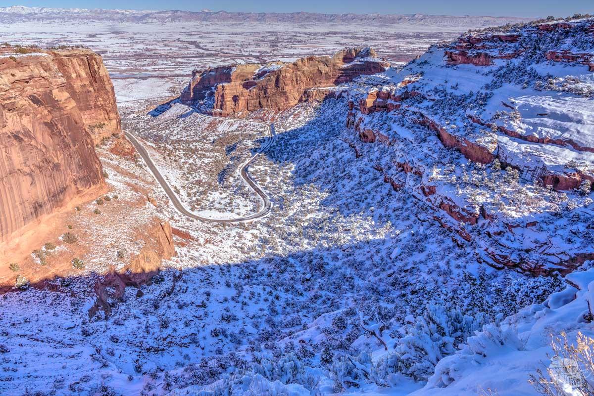 Rim Rock Drive at Colorado National Monument.