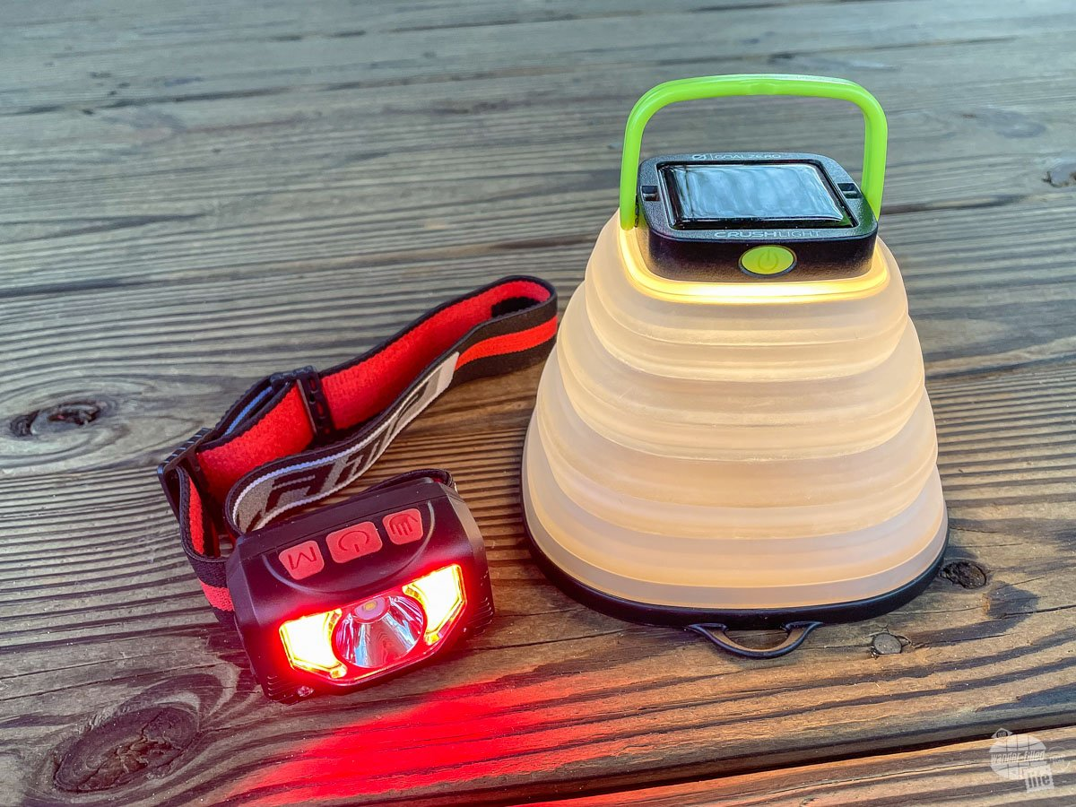 Tinmu Headlamp and Goal Zero Crush Light are perfect for a travel emergency kit.