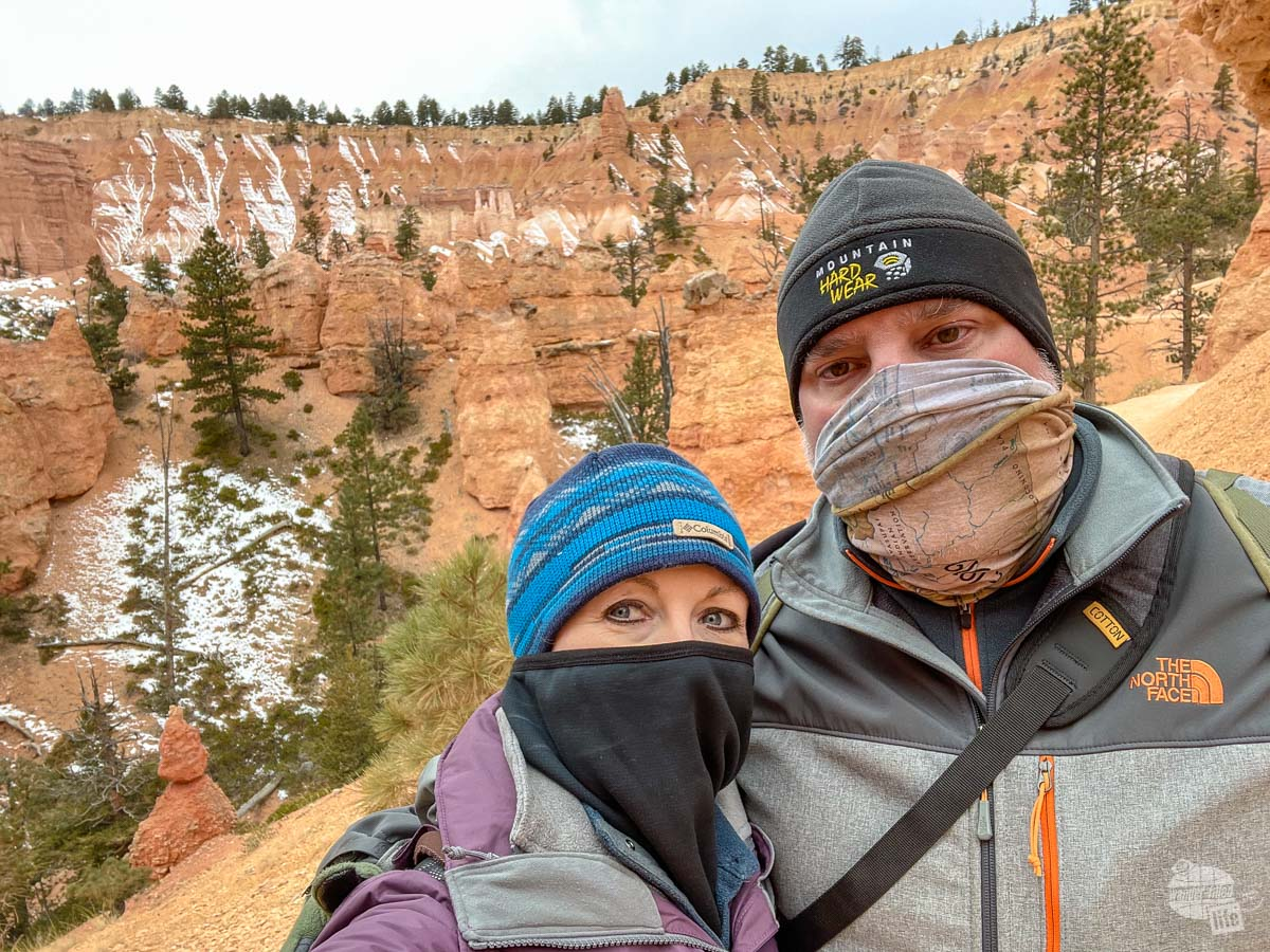 When hiking in cold weather, having a good face covering is essential.