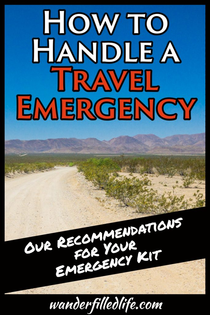 How do you deal with a travel emergency? What do you do when services are disrupted? Check out our recommendations for a travel emergency kit.