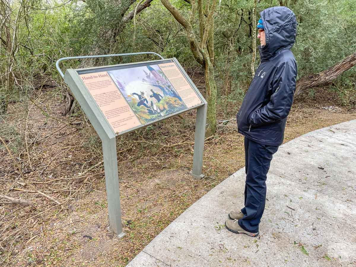 Interpretive sign at Resaca de la Palma