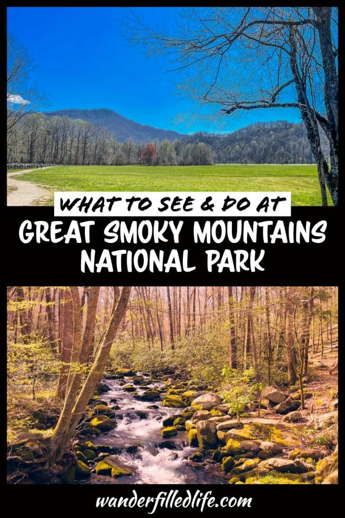 Our tips for visiting Great Smoky Mountains National Park to see mountains, scenic drives, hiking trails, historic buildings and wildlife.