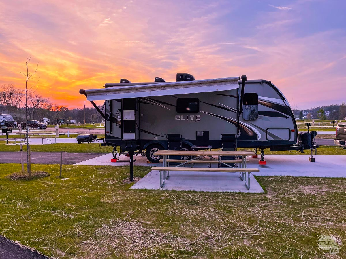 Our camper at Pigeon Forge Landing RV Park.
