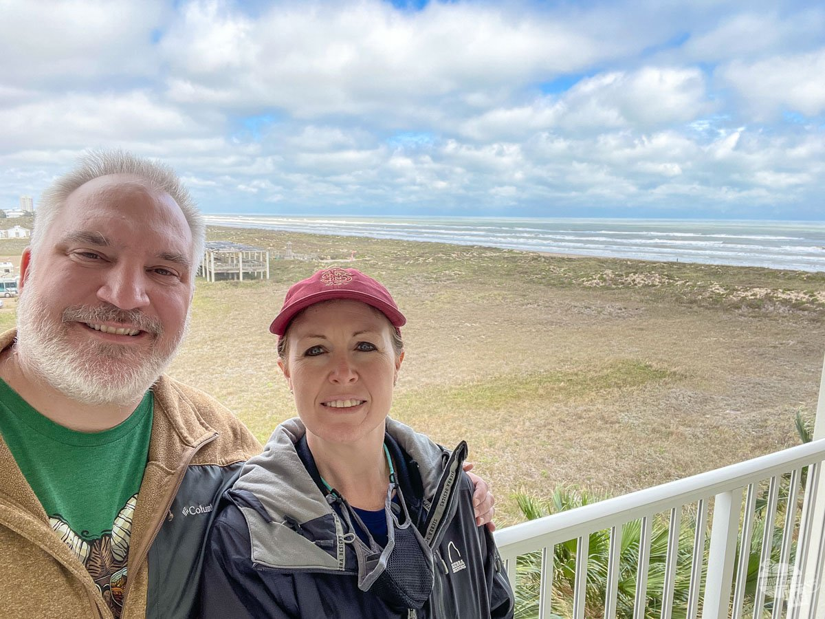 Selfie from our hotel room at South Padre Island.