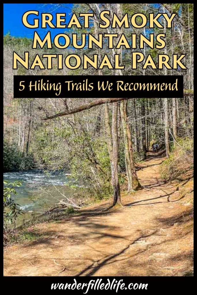Great Smoky Mountains National Park hikes will take you over mountains, to waterfalls and through valleys to some gorgeous views!
