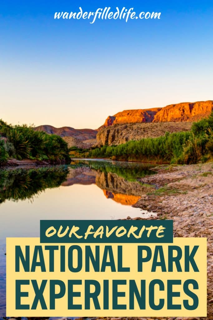 All about our favorite National Park experiences. These are the stories we keep telling 10 years later and we hope you can enjoy them, too! From primitive camping in Big Bend to snowmobiling in Yellowstone, check out these epic adventures to inspire your National Park travels.