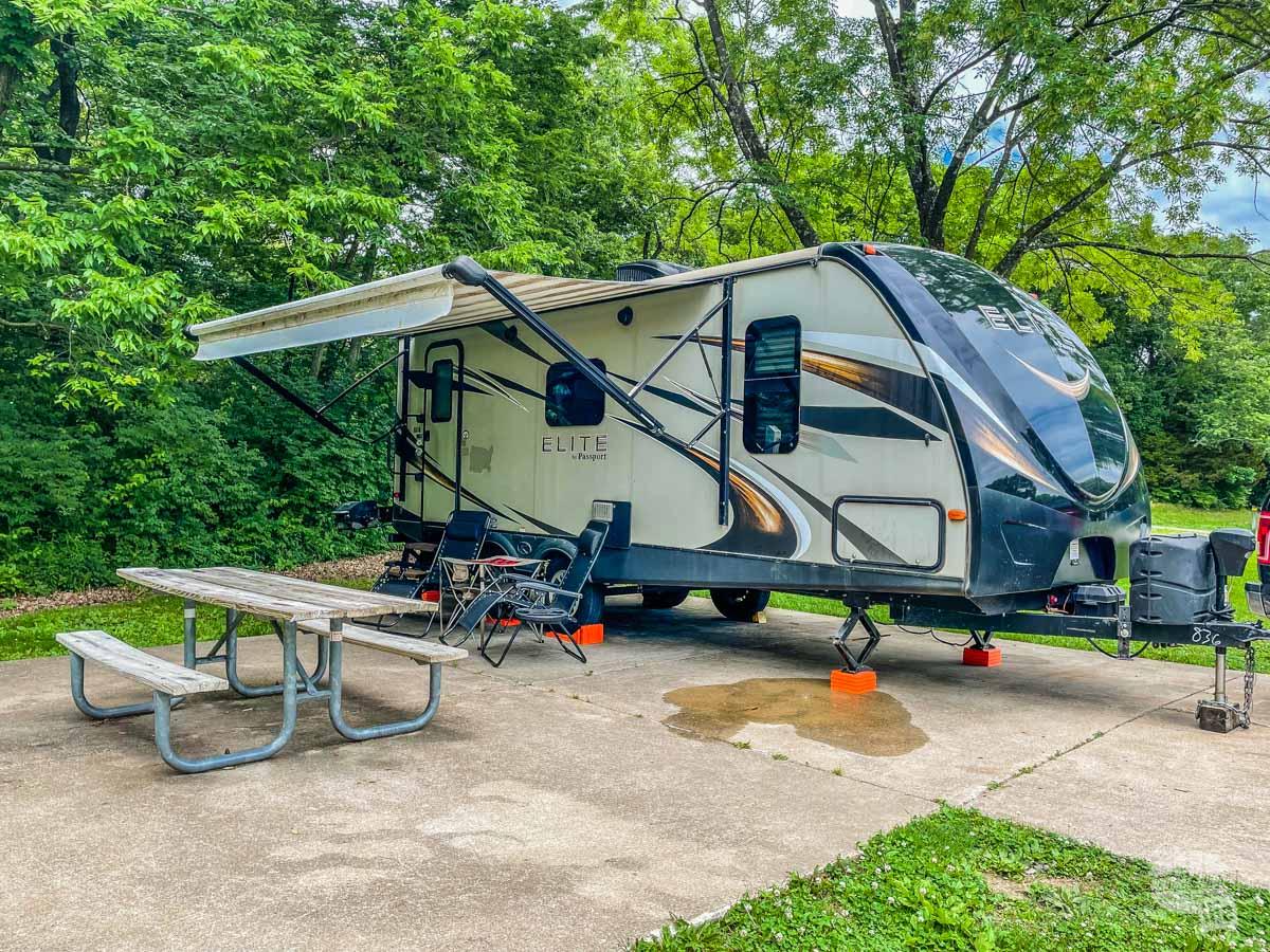 Our camper at Babler Memorial State Park