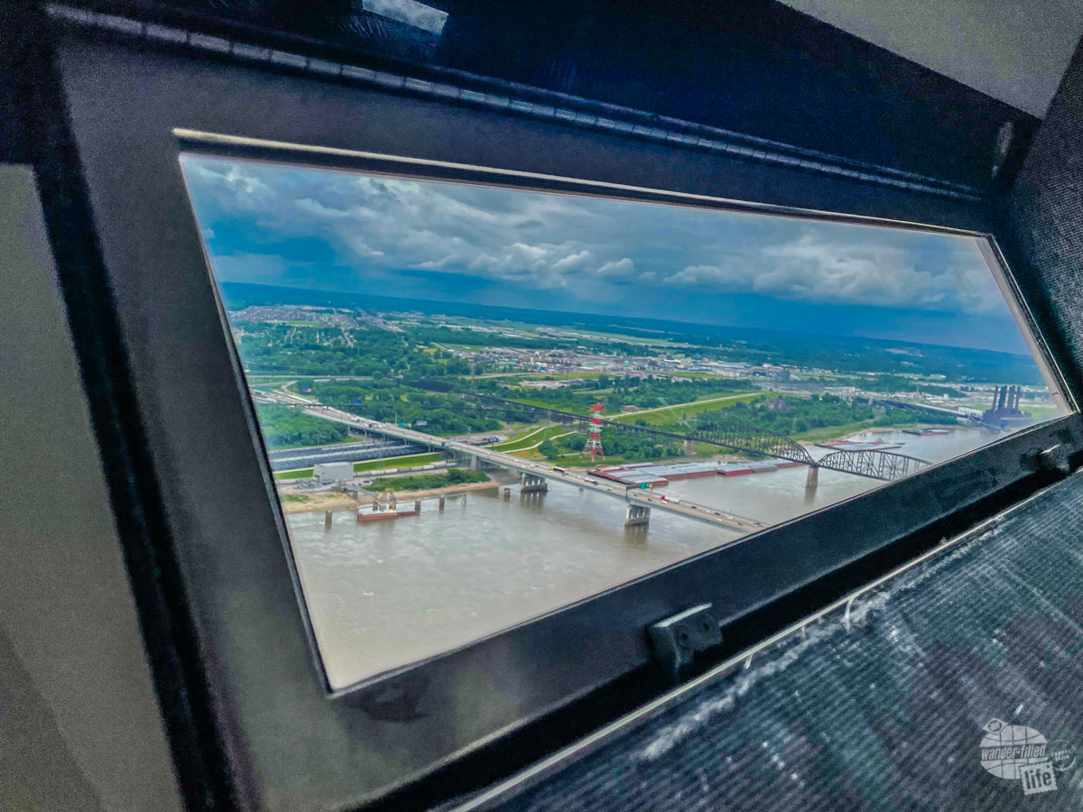 The narrow windows atop the Gateway Arch offer a great view.