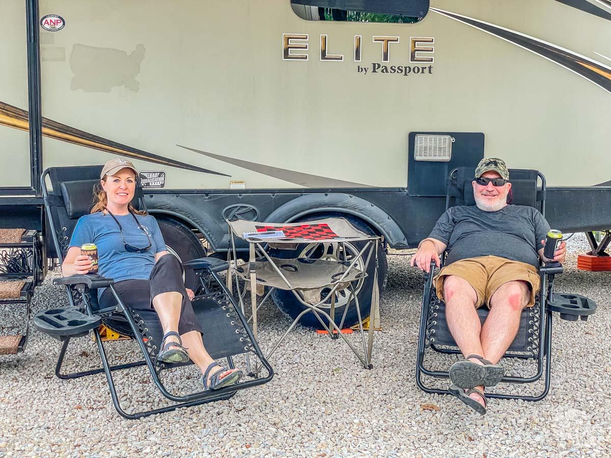 Relaxing at Big Spring RV Camp.