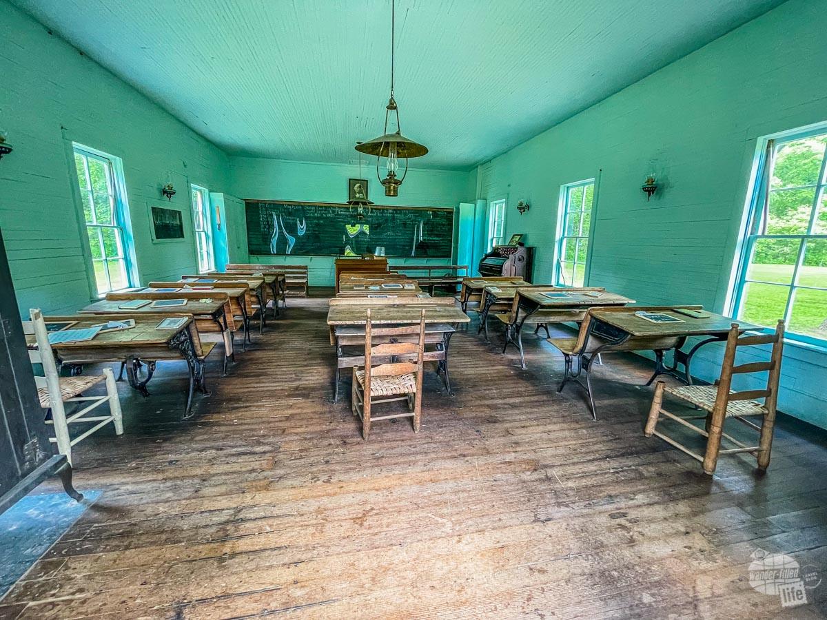 Storys Creek School at Alley Mill in Ozark National Scenic Riverways.