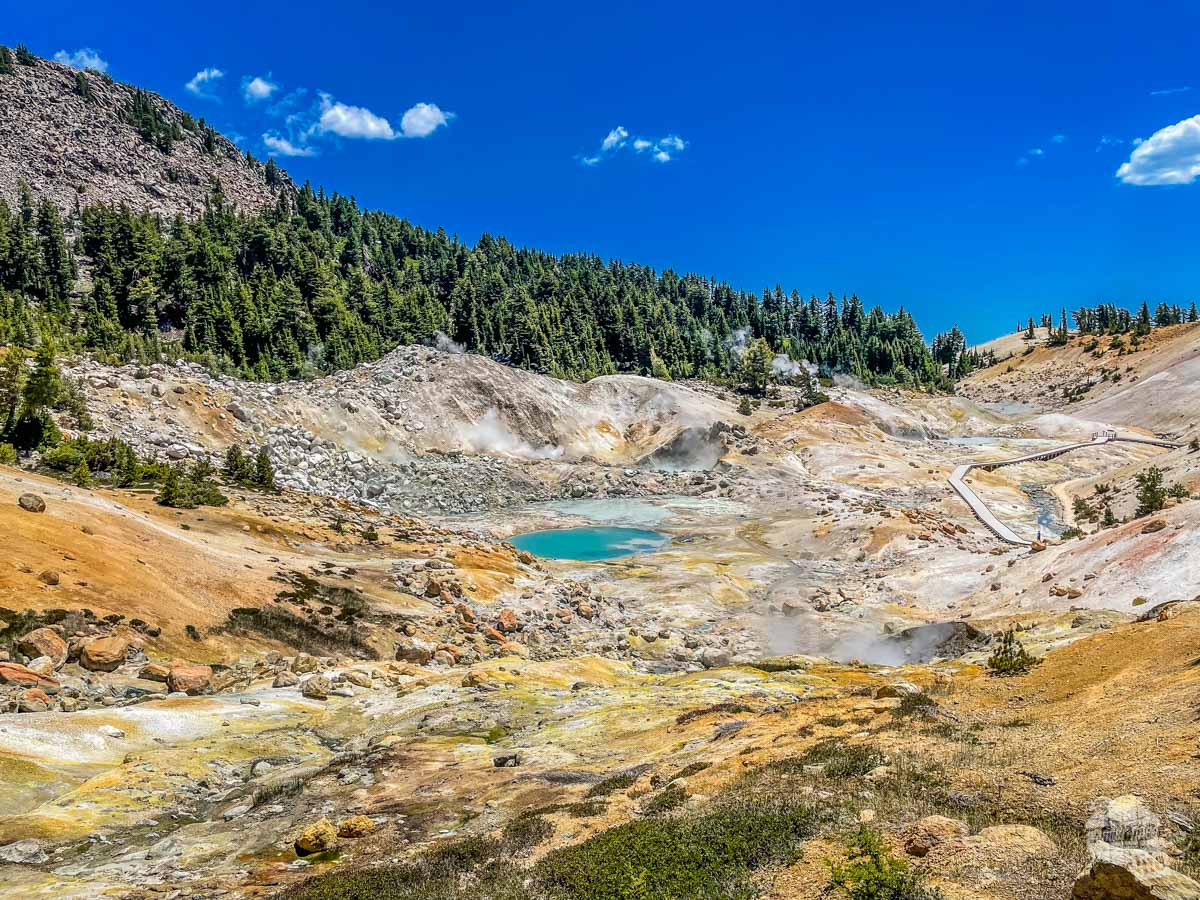 Bumpass Hell is one of the best things to do at Lassen Volcanic National Park.