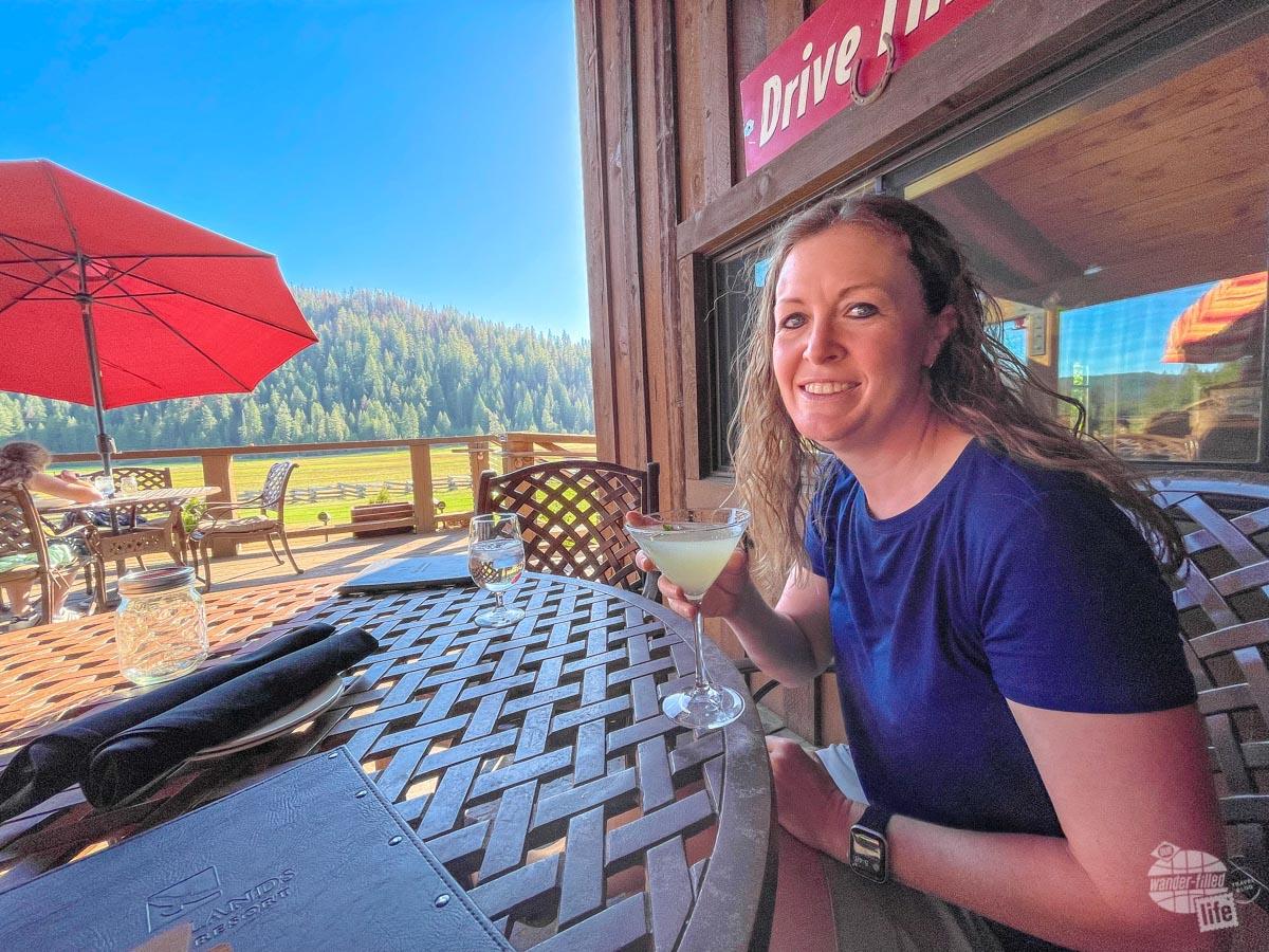 Drinks at Highland Ranch Resort near Lassen Volcanic National Park.