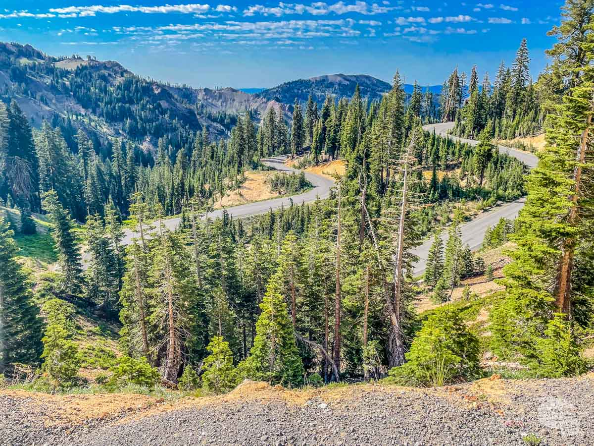 Driving the park highway is one of the best things to do at Lassen Volcanic National Park.