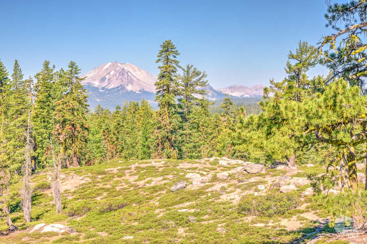 Lassen Peak from Inspiration Point, a great place for day hiking in Lassen Volcanic National Park