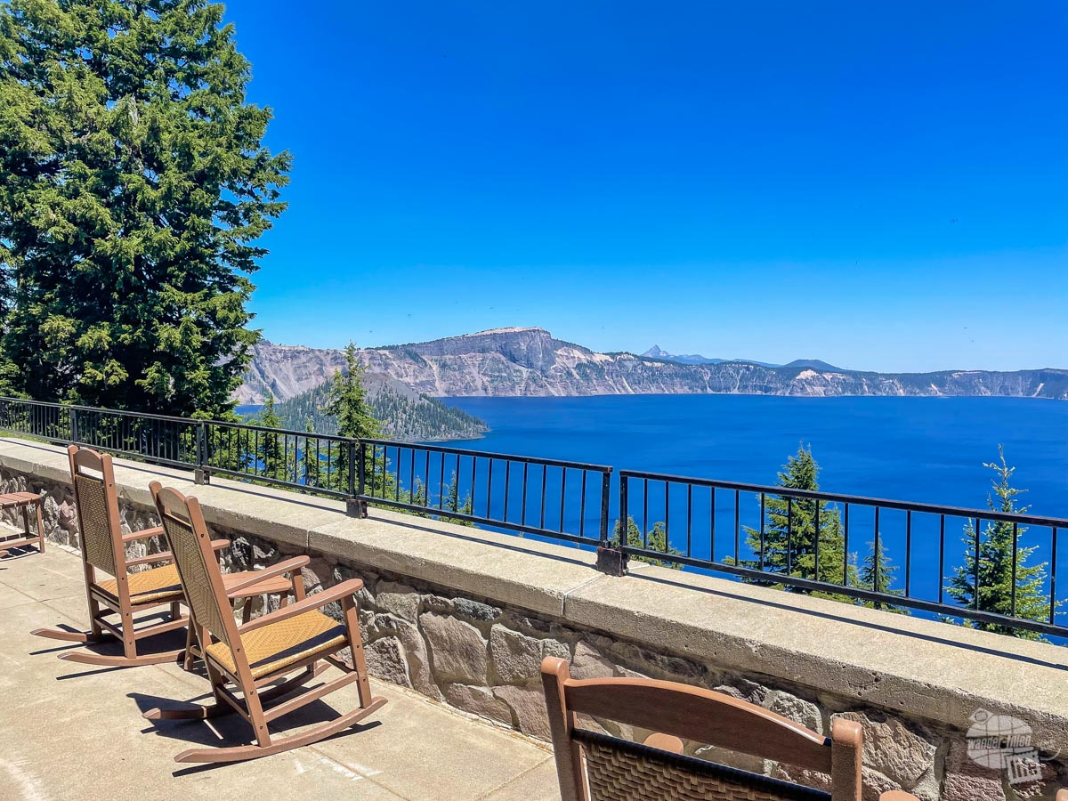 Back porch of Crater Lake Lodge