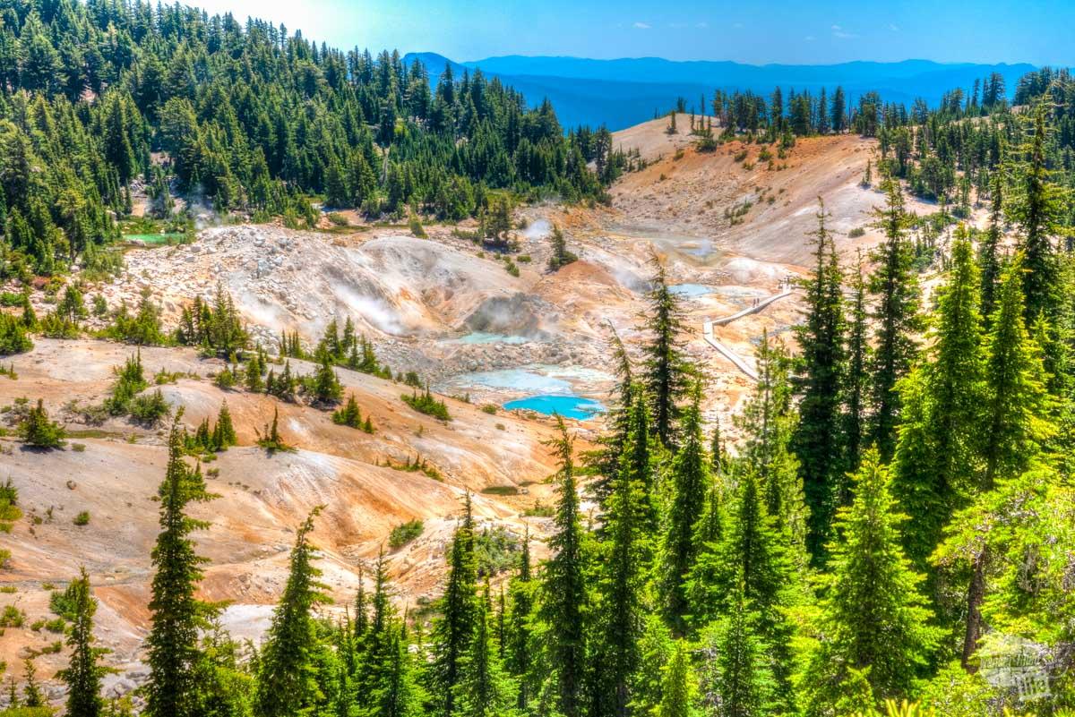 Bumpass Hell at Lassen Volcanic NP.