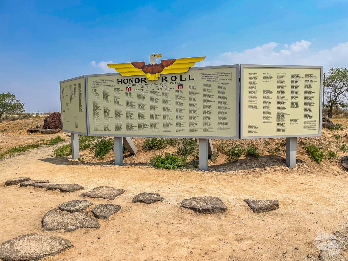 The Honor Roll sign at Minidoka National Historic Site
