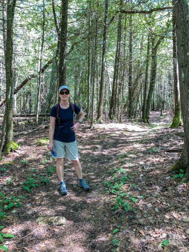 Bonnie on the trails on Mackinac Island.