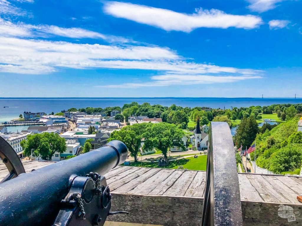 View of downtown from Fort Mackinac.