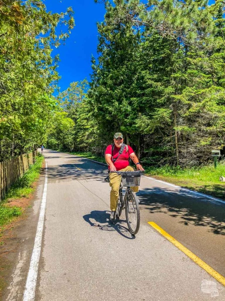Biking the Perimeter Road is a great way to spend one day on Mackinac Island.