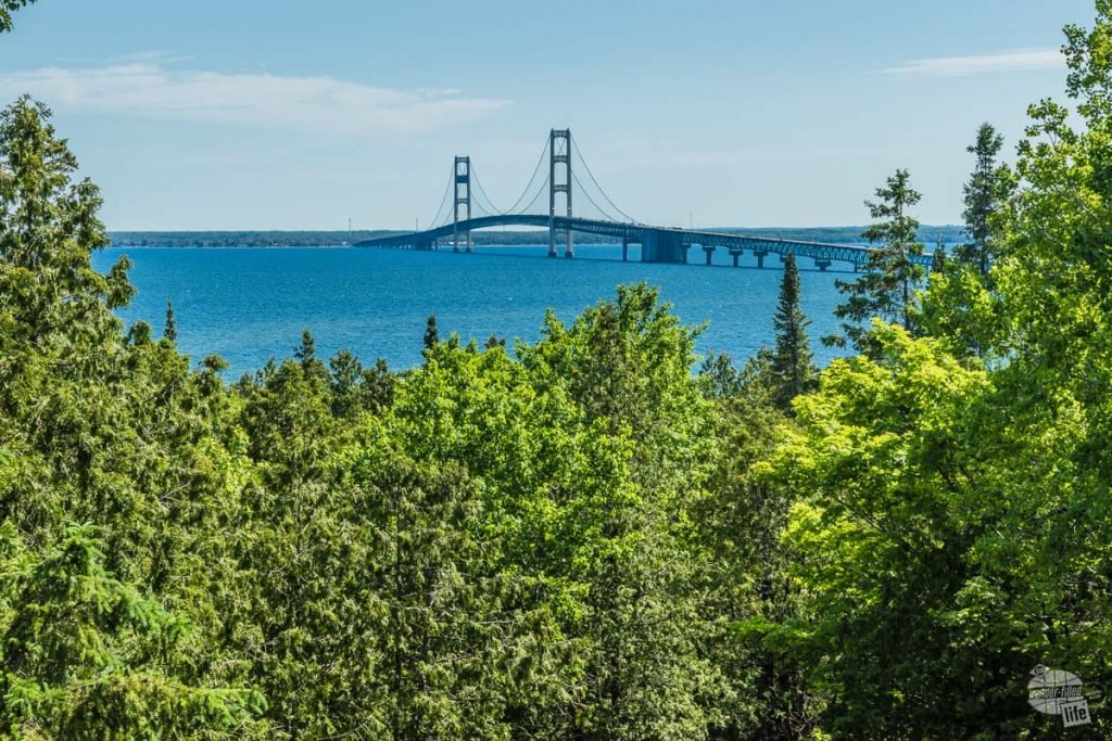 Mackinac Bridge from Straights State Park in St. Ignace.