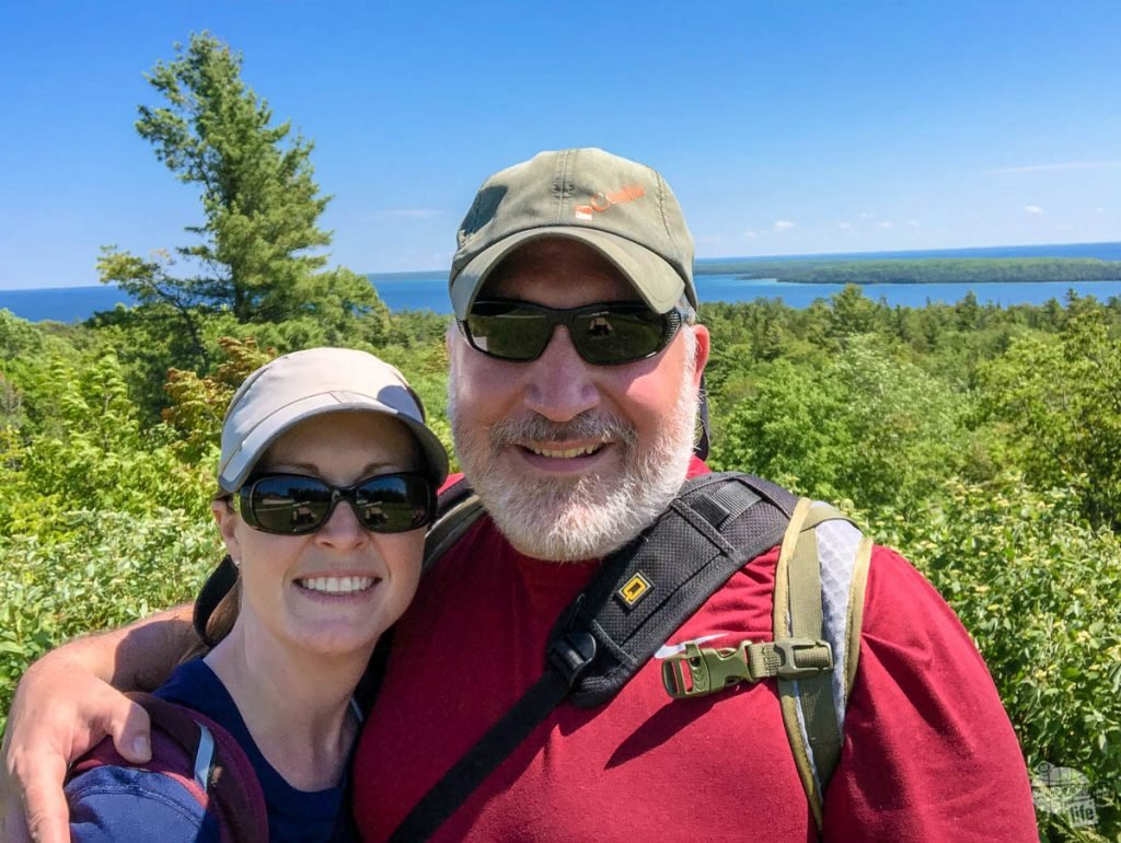 Bonnie and Grant enjoying one day on Mackinac Island. Be sure to include a hat and sunglasses on your Yellowstone packing list.